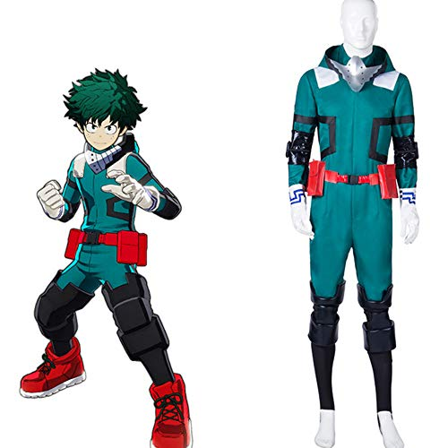 DuHLi My Hero Academia Boku Kein Held Akademia Izuku Midoriya Cosplay Kostüm Version 2 Deku Kostüm,Ms,M