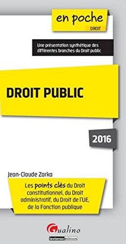 Droit public 2016, 3ème édition