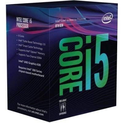 Intel Core i5-8600K 6x3,6 (Boost 4,3) GHz 9MB-L3 Cache Sockel 1151 (Coffee Lake