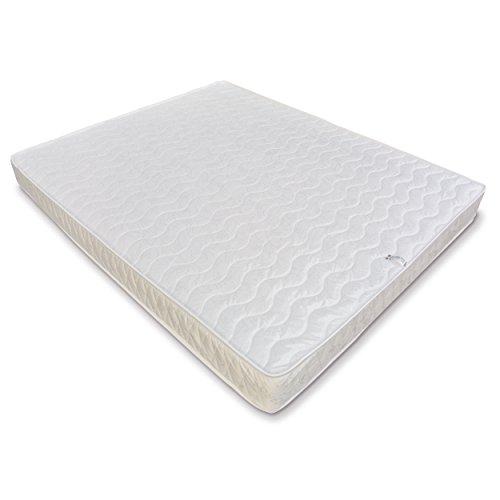Baldiflex Easy Materasso Matrimoniale, Cotone Ortopedico, Poliuretano, Bianco, 160x190x18 cm