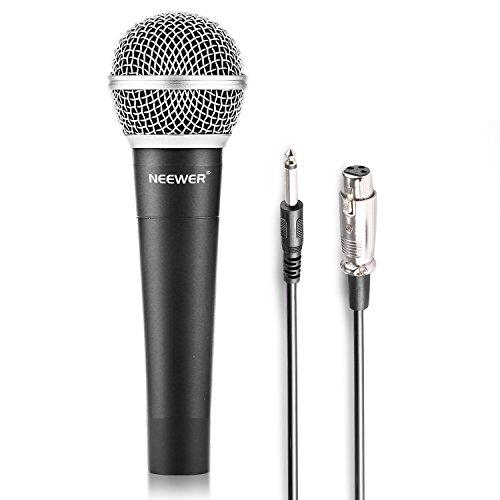 'Neewer Lega di zinco nero Profe ssinell haltbares condensatore microfono dinamico per kareoke, Stage, Home Studio Recording, con 1/4maschio a XLR femmina cavo