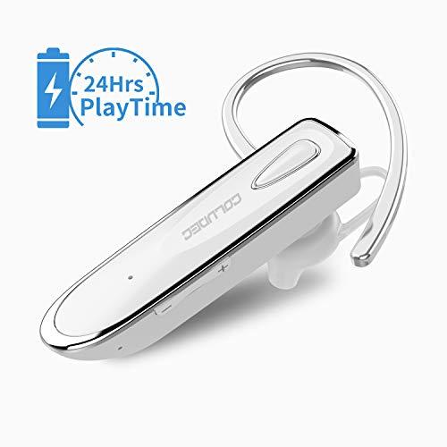 Bluetooth Headset Handy [24 Stunden Gesprächszeit, Business Stil] CouldEC Freisprech Headset Wireless mit Mikrofon EIN Ohr Ohrhörer Funk-Kopfhörer für Telefonieren iPhone Auto
