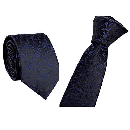 Xmiral Trendy Business Krawatte Beiläufiger dünner Plain Herren Striped dünner Hals(J)
