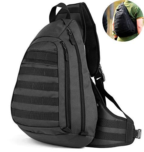 a2af7e31d5cd8 Selighting Militär Brusttasche Crossbody Bag Wasserdicht Umhängetasche  Molle Slingbag Taktisch Dreieck Pack für Trekking Wandern Camping