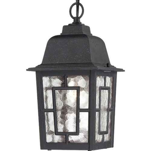 Nuvo Lighting Banyon Wandlaterne/Arme Up mit klarem Wasserglas Hängende Laterne Textured Black -