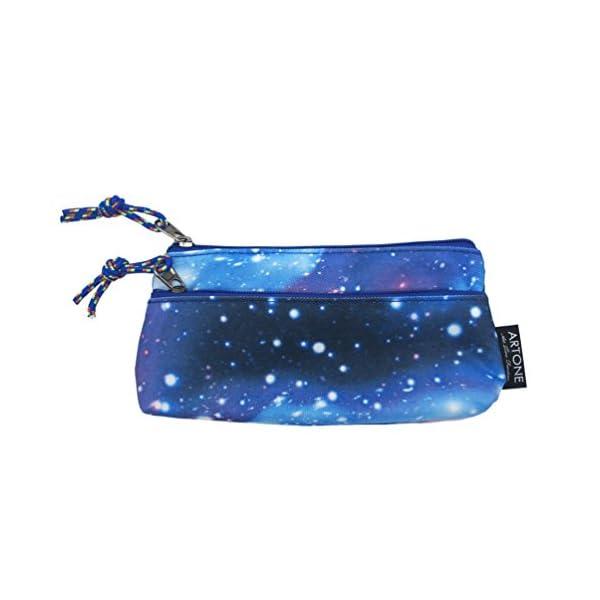 Artone Gran Capacidad Universo Galaxia Estuche Bolso De La Pluma Pounch Azul