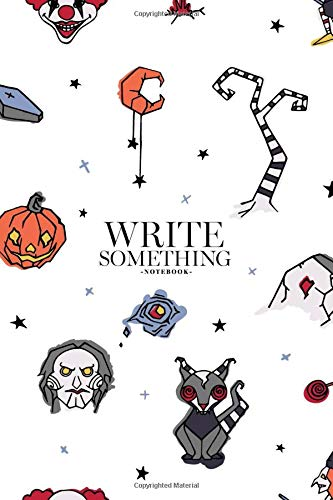 ething: Halloween with creepy and spooky characters hand drawn notebook, Daily Journal, Composition Book Journal, College Ruled Paper, 6 x 9 inches (100sheets) ()
