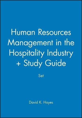 Human Resources Management in the Hospitality Industry + Study Guide Set: WITH Study Guide