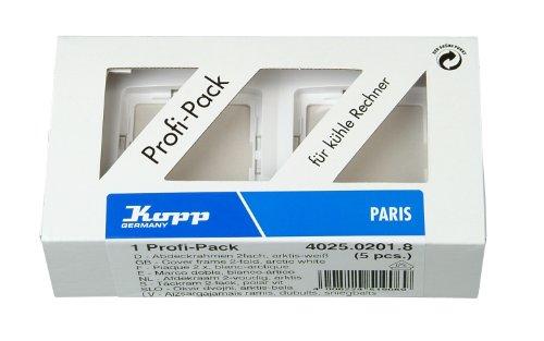 Kopp 402502018 Paris Profi-Pack: 5 Abdeckrahmen, 2-fach