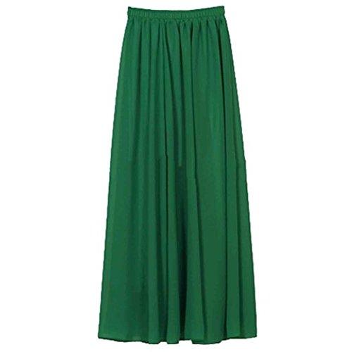 Qissy® Vita Elastica Chiffon Vintage Lungamente Fiancheggia Beach Vestito Delle Donne (S, Style 4)