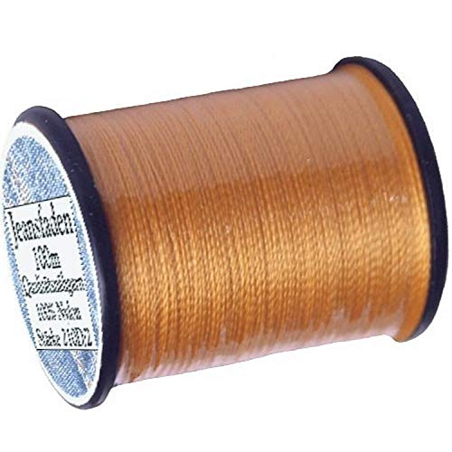 1 Stück Spule a. 100 m Qualitäts - Nähgarn Jeansfaden Farb-Nr.1090 gelb, Ne 25.3/2, 100% Nylon für die Nähmaschine Garn Garne, 1702