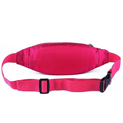 BUSL Wandern Hüfttaschen Mehrzweck- Outdoor-Sport-Männer und Frauen. die persönliche Sicherheit Telefonpaket läuft Stealth kleine Gürteltasche Einbeziehung rose red
