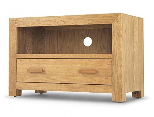 Cube meuble TV - Meubles en chêne cube - Mobilier moderne en chêne