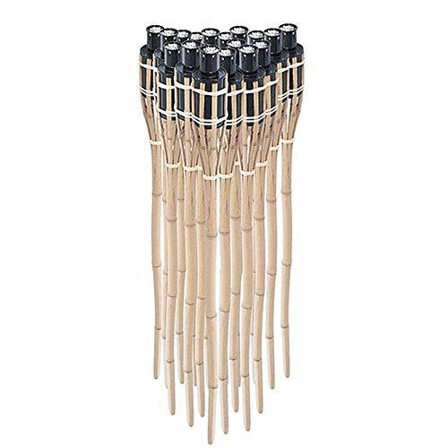 Ectxo 18 x Bambusfackel Gartenfackel Bambus Fackel Gartenfackeln Garten Deko 90cm