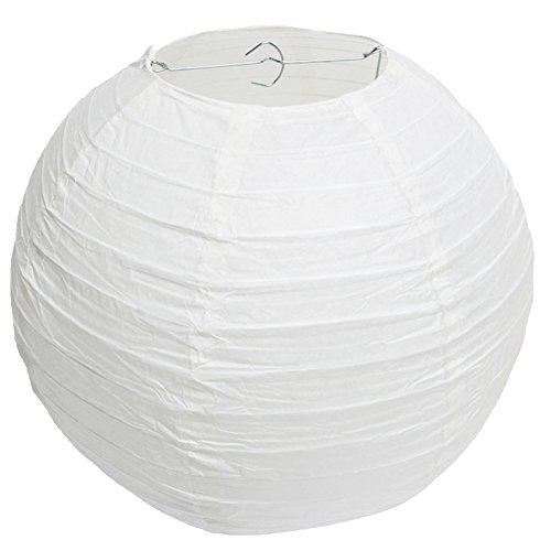 Papier Laternen Runden Papierlaternen Kugel-Form Lampenschirm für Hochzeit Kirche Garten Party Dekoration