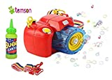 TEMSON Bubble Gun Camera Shape Toy with Bubble Solution, Light and Music