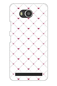 AMAN Love with Daimond White Colour 3D Back Cover for Lenovo A7700