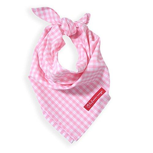 La Fraise Rouge 4251005600863 Halstuch Julie, florales Muster, rosa (Cowgirl Karo)