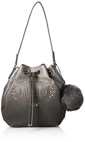 Liu Jo Damen Basket Bag Tornistertaschen, 28x28x14 cm Grau (Gun metal/frozen A3168)