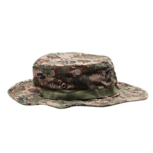 YuanDian Herren Damen Sommer Outdoor Camouflage Taktiken Hüte Sonnenhut Military Trekking Wander Angeln UV Schutz Cap Hut Russisch Dschungel One Size