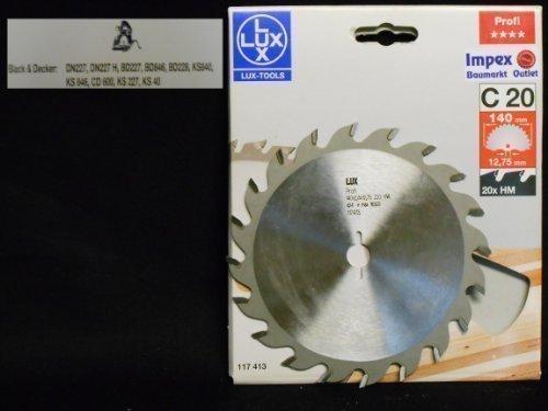 OBI LUX 117413 C20 Profi HM-Kreissägeblatt 140 x 12,75 mm, 20 Z