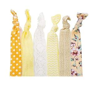 BE STEEL Armband für Frauen Mädchen Haargummi Pferdeschwanz Inhaber Haarbänder Zubehör Sets mit Bögen Handgemacht, Elastisch