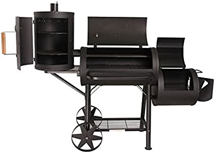 TAINO Yuma Pro XXL 110kg Smoker BBQ massiver Räucherofen Holzkohle 3,5mm Stahl schwarz