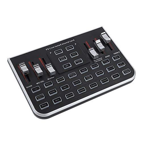 Eboxer Tragbare Live-Soundkarte Handy Live-Sendung Karaoke Voice Changer Begleitkabel für Handy,Computer usw.