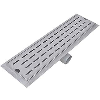 vidaXL Desagüe lineal de ducha varios dimensiones acero inoxidable