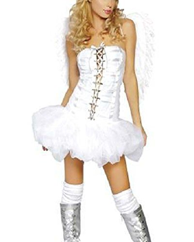 Engel Damen Halloween Kostüm Costüme Cosplay Mit Flügel (Costuems Halloween)