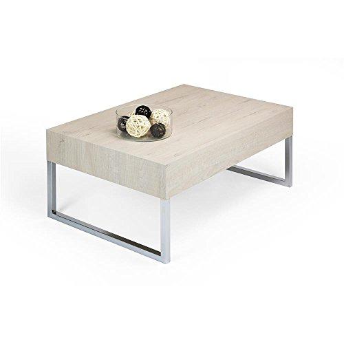 MOBILIFIVER Evo XL Couchtisch, Holz, Eiche Creme, 90 X 60 X 40 Cm