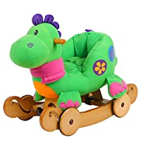labebe Baby Rocking Horse Wooden, Dinosaur Rocking Horse for Baby Up 6 Months, Baby Rocker Toy/Baby Rocking Horse/Toddler Rocker/Wooden Rocking Horse Toy