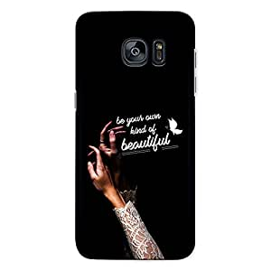 CrazyInk Premium 3D Back Cover for Samsung S6 Edge - own Beautiful