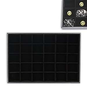 sortierbox mit 30 f chern f r kleinteile schmuck chunks etc in schwarz mit samt ausgeschlagen. Black Bedroom Furniture Sets. Home Design Ideas