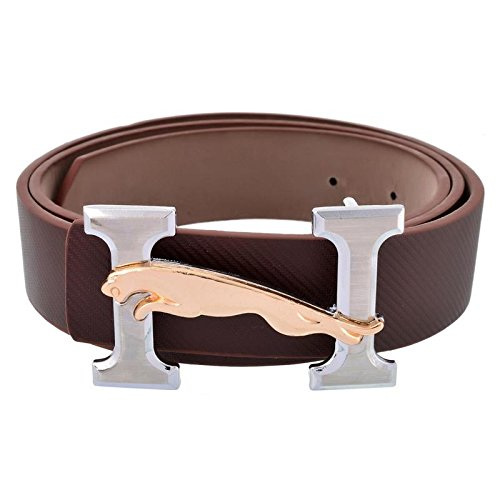 Stylehoops Brown Jaguar on H Buckle Belt  available at amazon for Rs.459