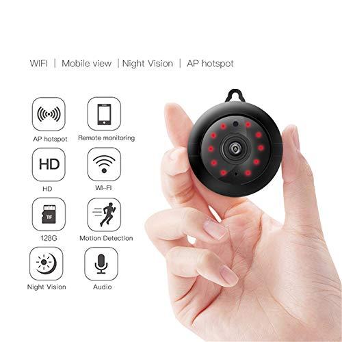 Konnison-1 Home Security 2.1mm Lens 720P Wireless Mini WiFi Visione Notturna Smart Home Security Monitor Telecamera IP Baby Monitor, rilevazione Movimento Slot per Scheda SD Audio App