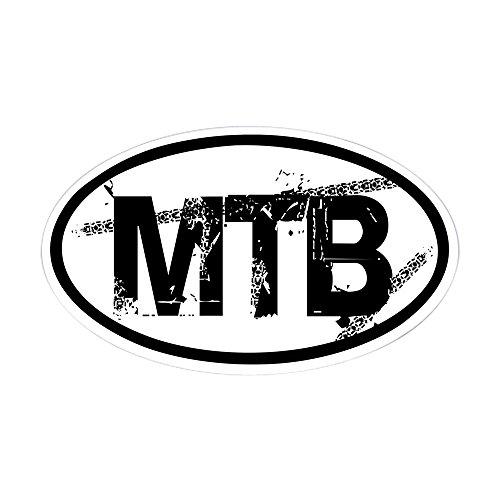 Atb-cross (CafePress–MTB Oval Aufkleber (Oval)–oval Bumper Sticker KFZ Aufkleber, weiß, Large - 4.5x7.5)