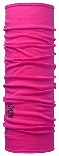 Buff Erwachsene Merino Wool SOLID PINK Hibiscus Multifunktionstuch, One Size - Logo-rosa Damen-schal