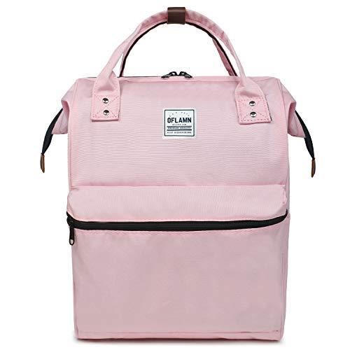 Oflamn Zaino Scuola Superiore università Vintage per Uomo e Donna Zaino Pc 14/15.6 Pollici - Doctor Style School Backpack (Rosa)