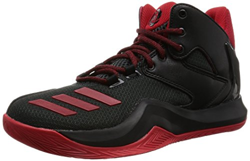 adidas Unisex-Kinder D Rose 773 V Basketballschuhe, Schwarz (Core Black/Scarlet/Dark Grey), 38 EU