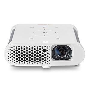 BenQ GS1 portabler LED-Projektor (HD Ready 1280 x 720 Pixel, 300 Ansi Lumen, HDMI/MHL, Kontrast 100.000:1) weiß