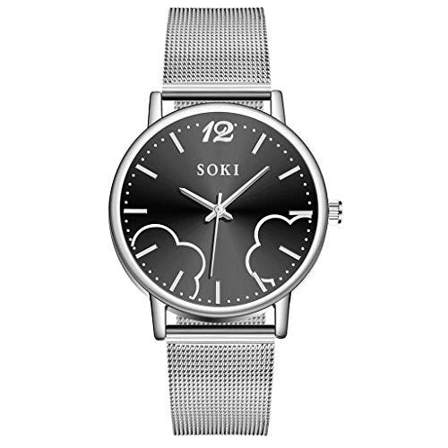 YEARNLY Classic Einfaches Uhr-Damen,Mode Zifferblatt Design,Legierungsriemen, 40mm