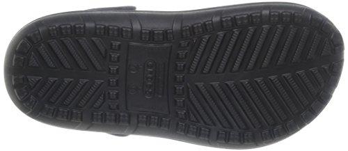 Crocs Hilo Lined Sabot U, Zoccoli e sabot, Unisex - adulto Nero (Black/Burst)