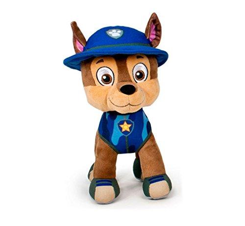 Paw Patrol Stofftiere, Originale offizielle Lizenzen 7 verschiedene Charaktere verfügbar (Chase: Blue police dog) -