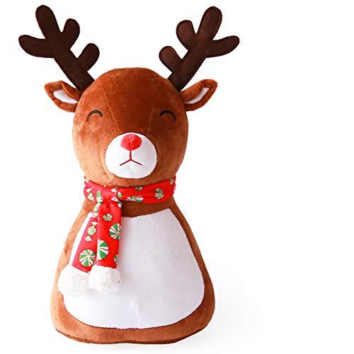 Mieoson Stilvoll und modern für das heutige Zuhause Weihnachtselch-Puppen-Kissen-Raum-Dekorations-Sofa-Auto-Kissen (Farbe : AS Shown, Größe : 33cm)