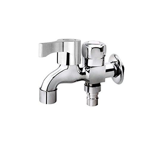 Good quality Wasserhahn für Waschbecken, Antik-Optik, Kupfer, 1 kaltes Wasser, Waschmaschine, Wasserhahn, Doppel-Wasserhahn, mit Schnellöffnung, für Pool, Lange Wasserhahn
