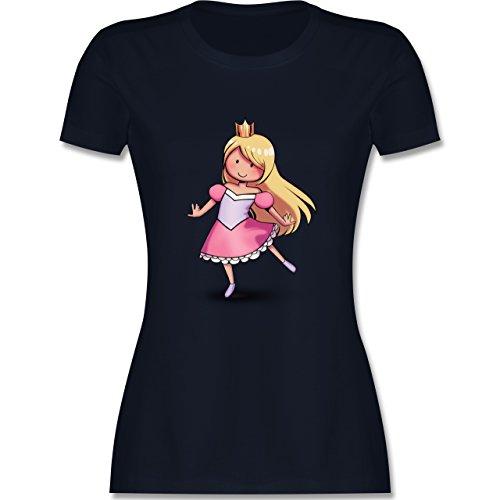 Karneval & Fasching - Tanzende Prinzessin - tailliertes Premium T-Shirt mit Rundhalsausschnitt für Damen Navy Blau