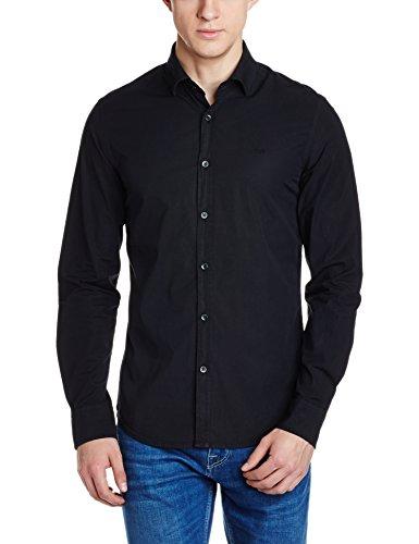 GAS ANDREW/8 NEW 0200 Camicia uomo maniche lunghe cotone logo ricamato slim fit