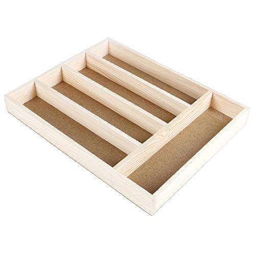 36 Cm Breit 5 Schubladen (Faveco Besteckkasten, Holz, Braun, 28x 4x 36cm)