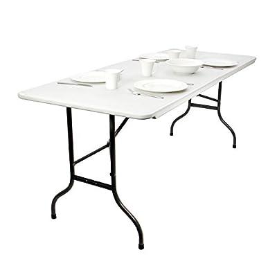 Vanage Klapptisch in grau / anthrazit - Gartentisch mit Kunststoff Tischplatte und Stahlgestell